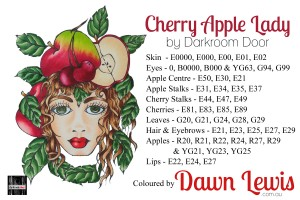 Cherry Apple Lady copic colour printable