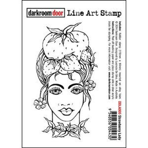 DDLA005_LineArtStamp_StrawberryLady