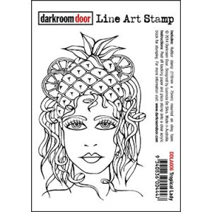 DDLA006_LineArtStamp_TropicalLady