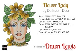 Flower Lady copic colour printable