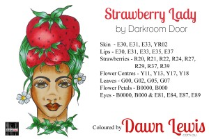 Strawberry Lady copic colour printable