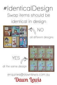 Identical design 2x3