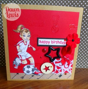 KK Soccer girl card red reduced