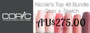 Nicole's Top 40 Copic Bundle - Sketch & ciao