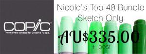 Nicole's Top 40 Copic Bundle - Sketch only