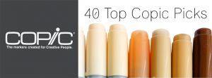 Top 40 Copic list blog post banner