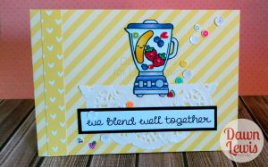 Dawn Lewis shows you how to make this fun card using Lawn Fawn 'So Smooth' and new fruit confetti! Want Lawn Fawn in Australia? Check out www.dawnlewis.com.au