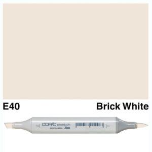 Copic Sketch marker E40 Brick White, Australia