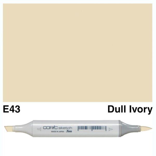 Copic Sketch marker E43 Dull Ivory, Australia