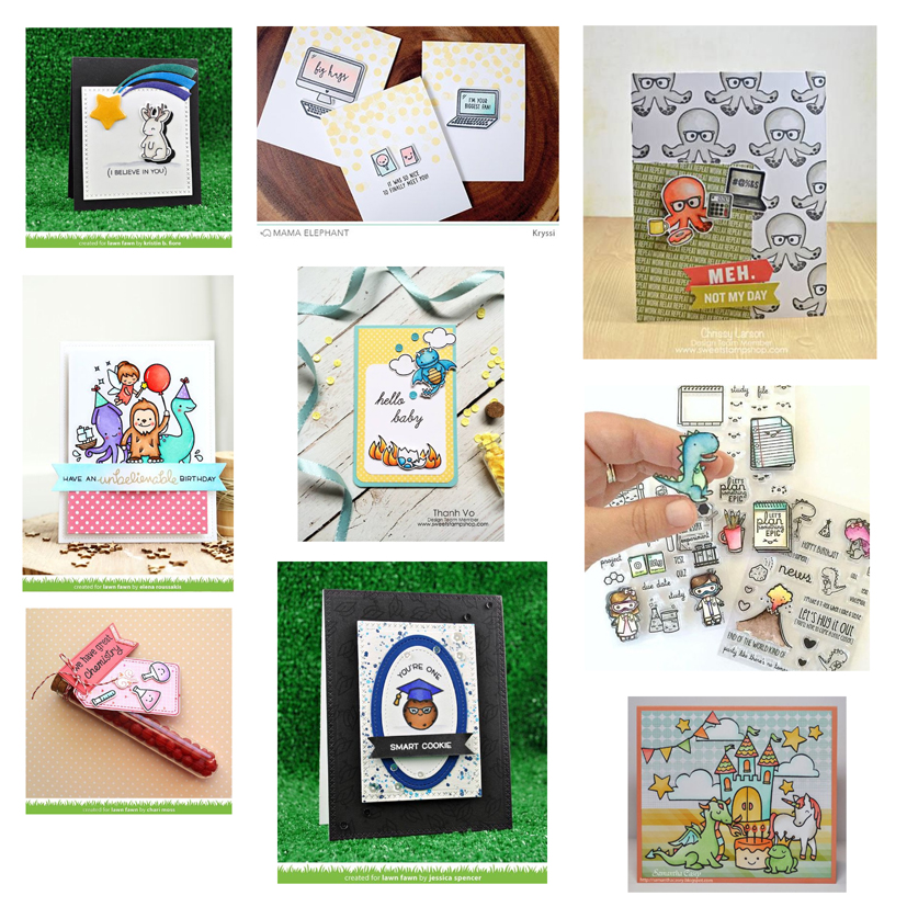 Dawn Lewis has curated a fun list of geeky & nerdy stamps. Looking for Lawn Fawn, Mama Elephant or Sweet Stamp Shop in Australia? www.dawnlewis.com.au