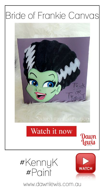 Dawn Lewis shows you how to use acrylic paints with your digital stamps to create this fun canvas for your Halloween home decor! Check out the video tutorial on the blog.