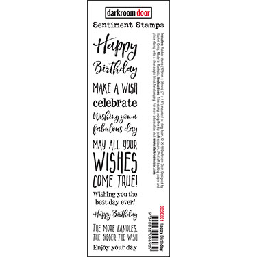 Darkroom Door Birthday Sentiment Stamp Red Rubber Australia