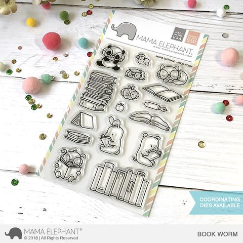 Book Worm, Mama Elephant stamp set, Australia