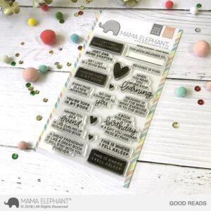 Good Reads, Mama Elephant Stamp Set, Australia