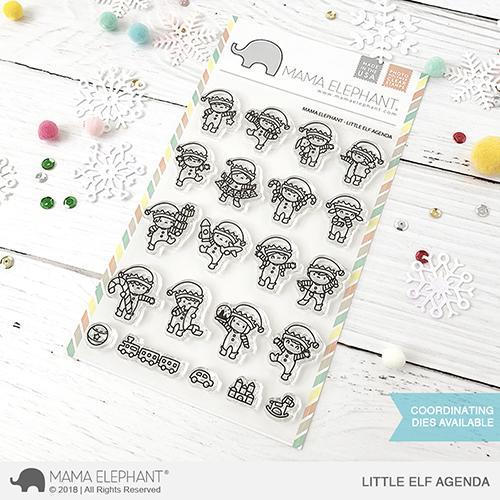 Mama Elephant, Little Elf Agenda stamp set, Australia