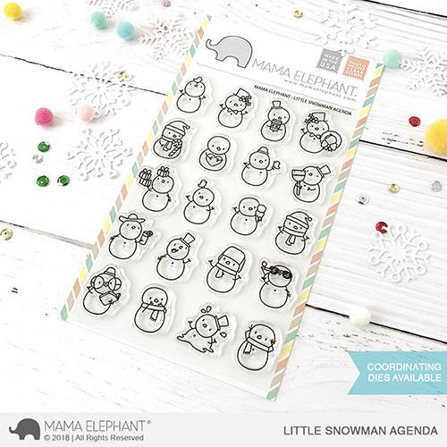 Mama Elephant, Little Snowman Agenda stamp set, Australia