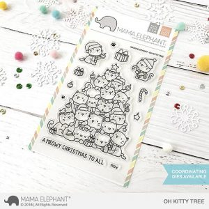 Mama Elephant Oh Kitty Tree stamp set, Australia