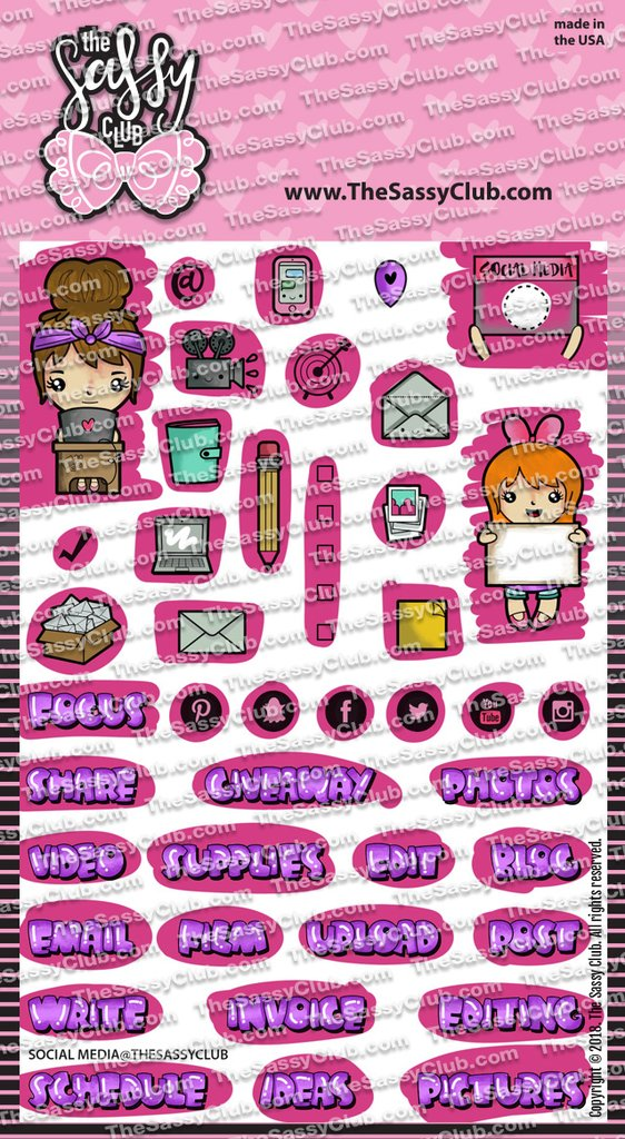The Sassy Club, Social Media stamp set, Australia