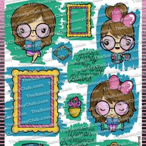 The Sassy Club, Darla Reads, stamp set, Australia