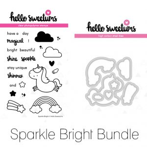 Hello Sweetums, Sparkle Bright stamp & die bundle, Australia