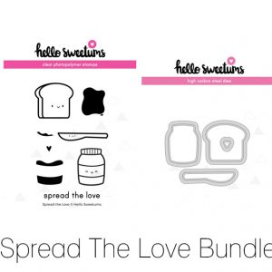 Hello Sweetums, Spread the Love stamp & die bundle, Australia