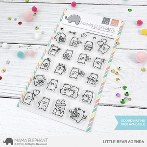 Mama Elephant, Little Bear Agenda stamp set, Australia