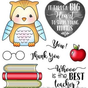 Darcie's Heart & Home, Best Teacher stamp set, Australia