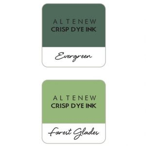Altenew, Green Fields with Permanent Black ink cube set, Australia