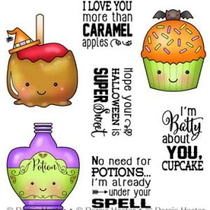 Darcie's Heart & Home, Sweet Halloween stamp set, Australia