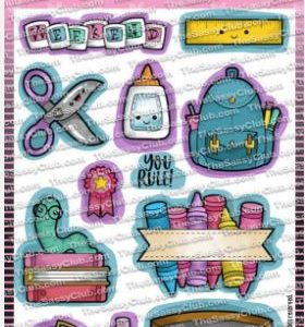 The Sassy Club, Bookworm stamp set, Australia