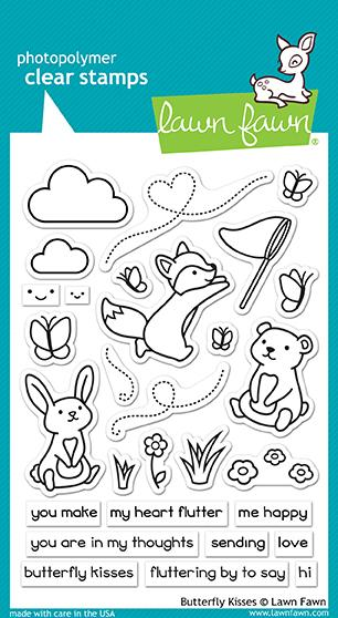 Lawn Fawn, Butterfly Kisses stamp set, Australia