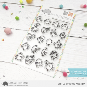 Mama Elephant, Little Chickie Agenda stamp set, Australia