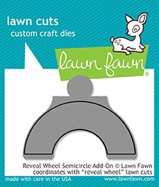 Lawn Fawn, Reveal Wheel Semicircle add-on die set, Australia