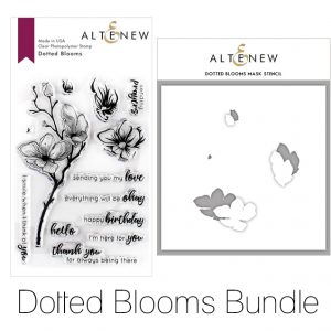 Altenew, Dotted Blooms stamp & stencil bundle, Australia