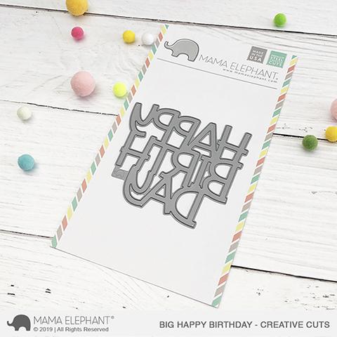 Mama Elephant, Big Happy Birthday die set, Australia