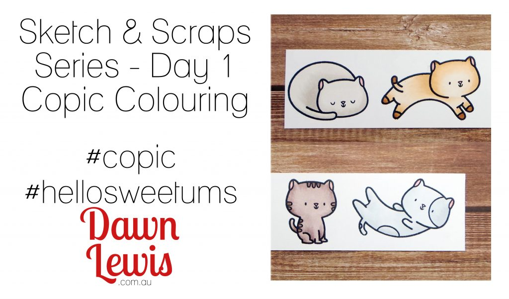 Sketch & Scraps video series, Fuzzy Felines by Hello Sweetums, Australia
