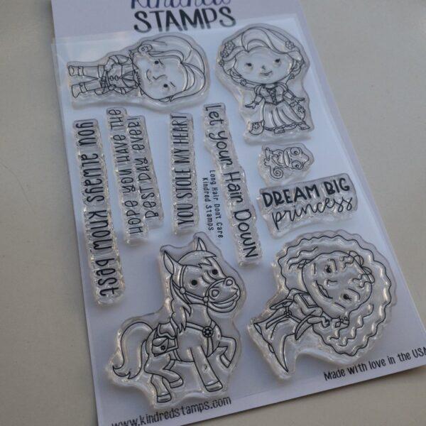 Kindred Stamps, Long Hair Don't Care stamp set, Australia