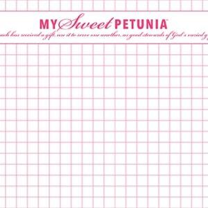 My Sweet Petunia, Misti, Mini size grid paper, Australia