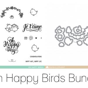 Mama Elephant, Oh Happy Birds stamp & die bundle, Australia