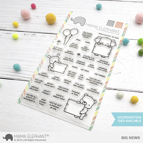 Mama Elephant, Big News stamp set, Australia