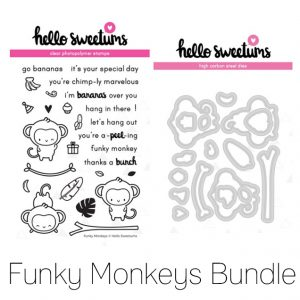 Hello Sweetums, Funky Monkeys stamp & die bundle, Australia