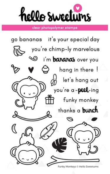 Hello Sweetums, Funky Monkeys stamp set, Australia