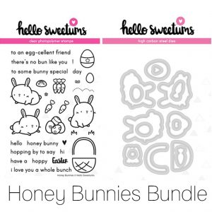 Hello Sweetums, Honey Bunnies stamp & die bundle, Australia