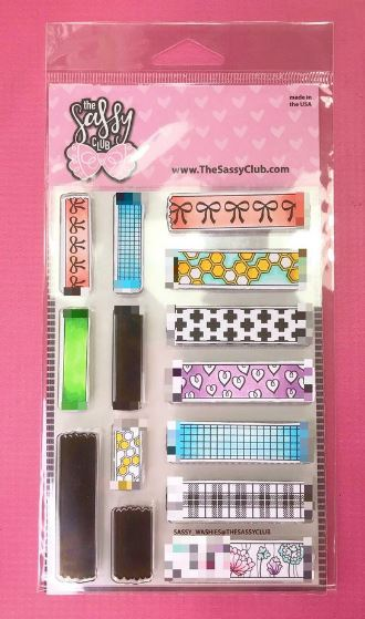 The Sassy Club, Sassy Washi stamp set, Australia
