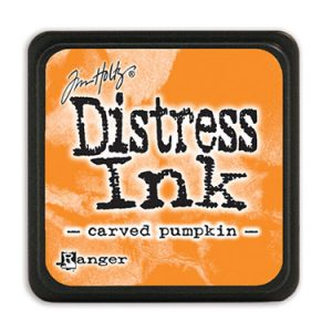 Distress Ink Mini Carved Pumpkin