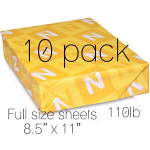 Neenah Classic Crest Solar White 110lb full sheet 10pk, Australia