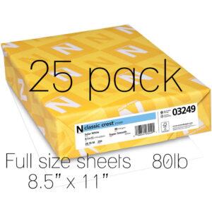 Neenah Classic Crest Solar White 80lb full sheet 25pk, Australia