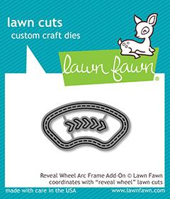 Lawn Fawn, Reveal Wheel Arc Frame add on die set, Australia