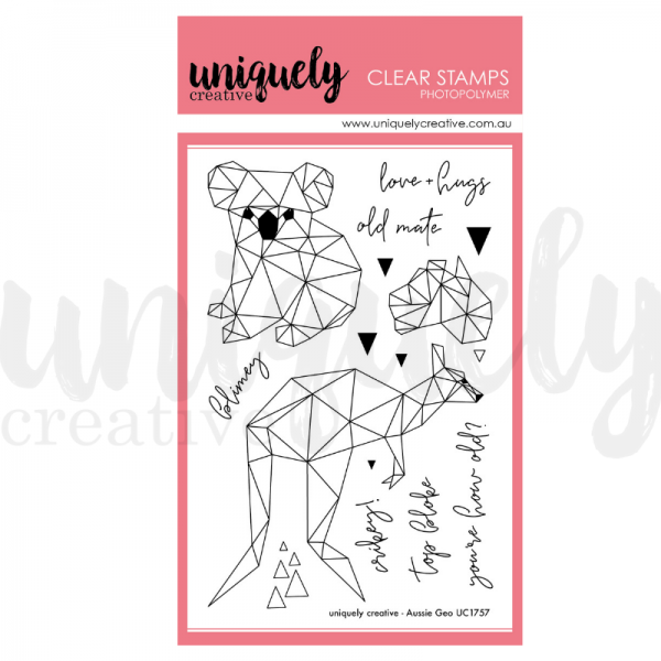 Uniquely Creative, Aussie Geo stamps stamp set, Australia