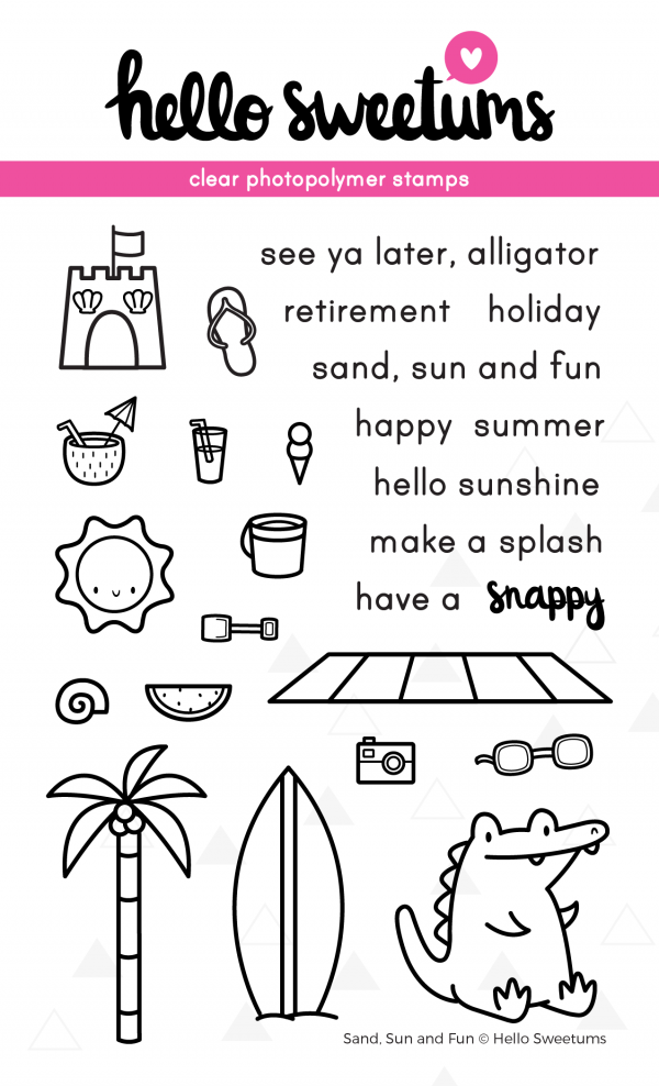 Hello Sweetums, Sand Sun and Fun stamp set, Australia
